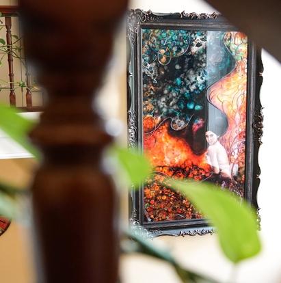Beautiful artwork at Wildercombe House